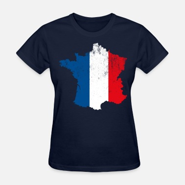 French Flag French Map Flag - Women's T-Shirt