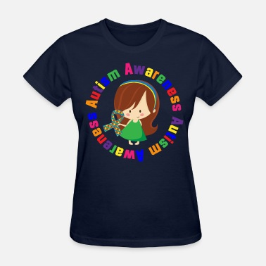 Autism Girl Autism Awareness Girl - Women's T-Shirt