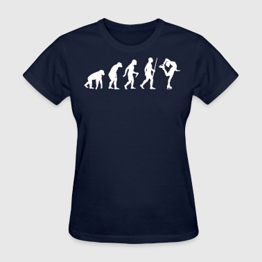 Evolution Of Ice Skating Ice Skating Evolution Humor - Women's T-Shirt