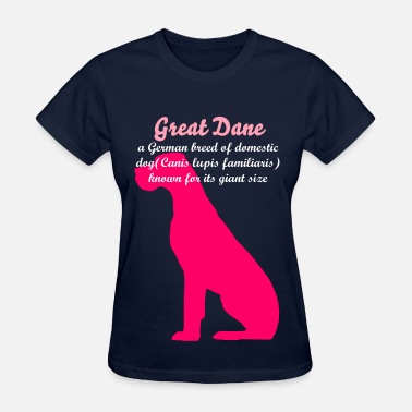 Dane HOT PINK Natural ear Great Dane - Women's T-Shirt
