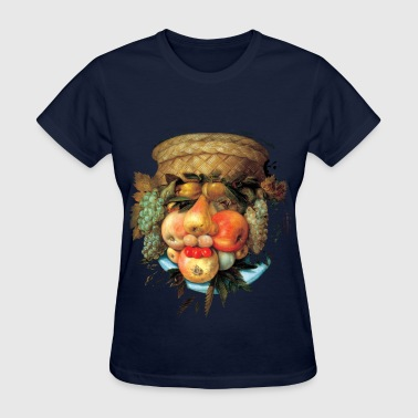 giuseppe_arcimboldo__fruit_basket_blk - Women's T-Shirt