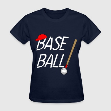 Baseball Exclamation White - Women's T-Shirt