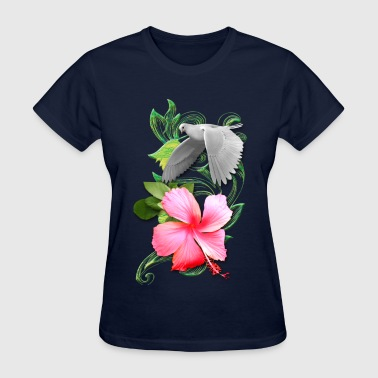 Dove Hover Floral - Women's T-Shirt