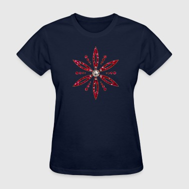 Flower of Aphrodite, red, Symbol of  love, beauty and transformation, Power Symbol, Talisman - Women's T-Shirt