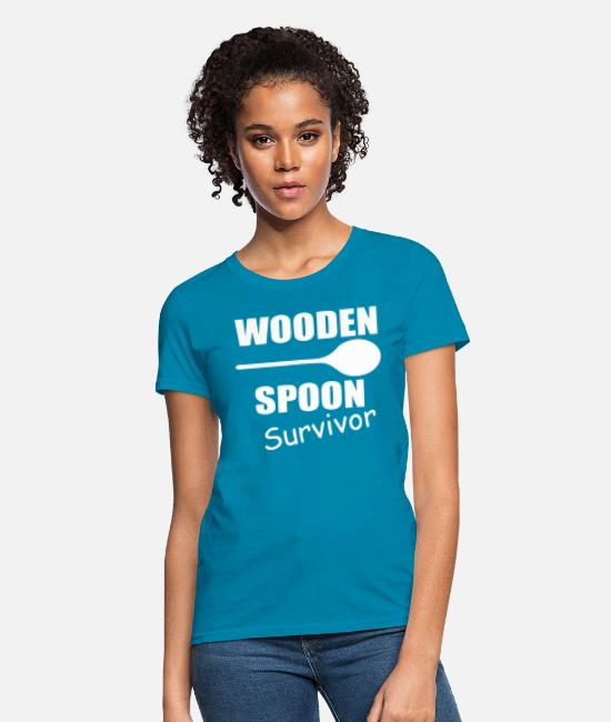 Movie T-Shirts - Wooden Spoon Survivor - Women's T-Shirt turquoise