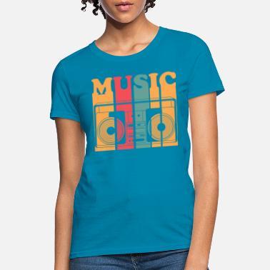 Wellcoda Disco Retro Music Mens Long Sleeve T-shirt Music Graphic Design