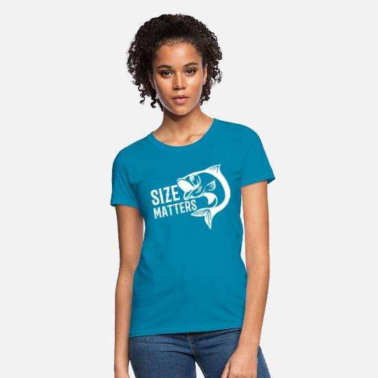 Dad T-Shirts - Size Matters - Women's T-Shirt turquoise