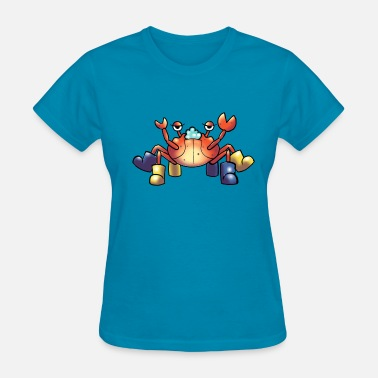 Rubber Boots Crab with rubber boots - Women's T-Shirt