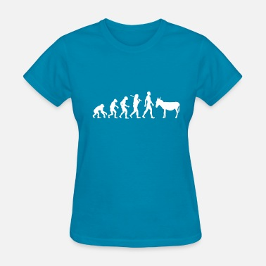 Stubborn Funny Funny evolution of donkey farmers gift idea - Women's T-Shirt