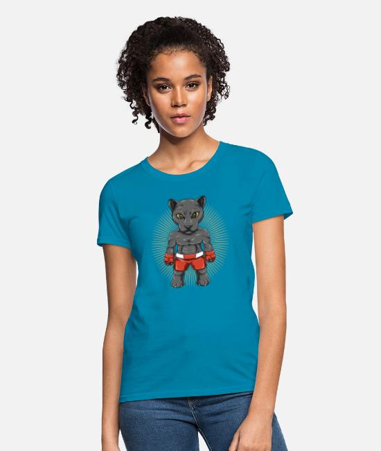 Mma T-Shirts - Panther Fighters In MMA Shorts - Women's T-Shirt turquoise