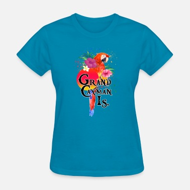 Macaw Grand Cayman Islands Tropical Parrot Macaw - Women's T-Shirt
