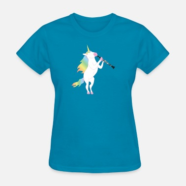 Melody Unicorn playing Clarinet T-Shirt for Musicians - Women's T-Shirt
