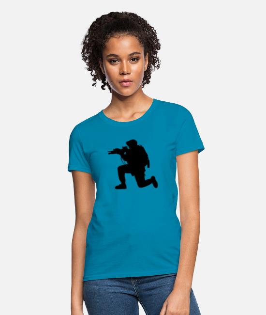Jaws T-Shirts - Modern Army Soldier - Women's T-Shirt turquoise