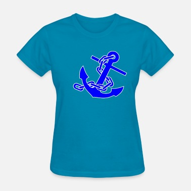 No Foul Fouled Anchor - Women's T-Shirt