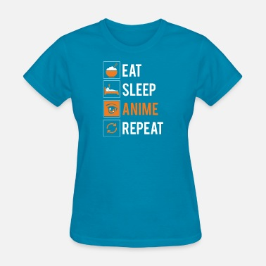 Hentai Kids Eat Sleep Anime Repeat Gift - Women's T-Shirt