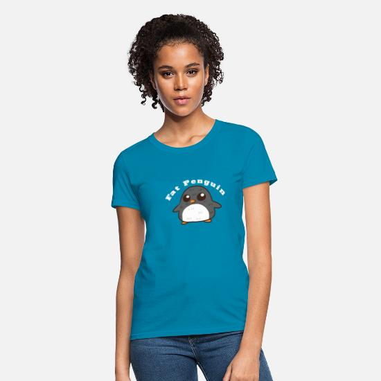 Big T-Shirts - Penguin Fat Pumpy penguin with overweight Humor - Women's T-Shirt turquoise