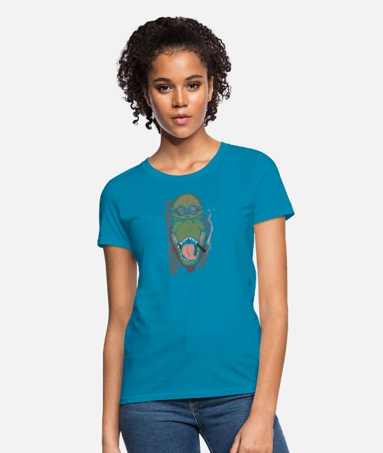 Dinosaurs T-Shirts - Dinosaur Soldier - Women's T-Shirt turquoise