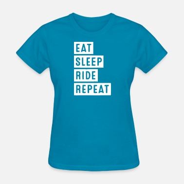 Sleeping Motor eat sleep ride white - Women's T-Shirt