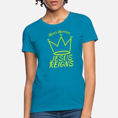 Matt Jesus Reigns Matts Warriors yellow logo - Women's T-Shirt
