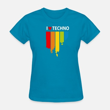 I Love Techno I love Techno Music - Women's T-Shirt