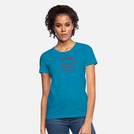 New World Order T-Shirts - New Rules - Women's T-Shirt turquoise