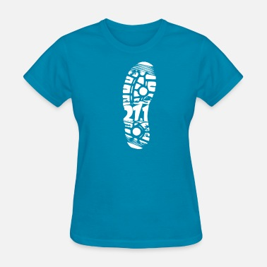 Walk Marathon Marathon Footprint - Premium Design - Women's T-Shirt
