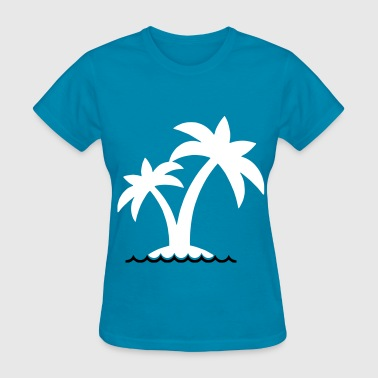 Palm Trees Water - Women's T-Shirt