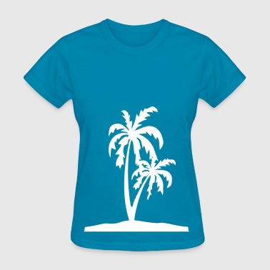 Palm Tree Island - Women's T-Shirt