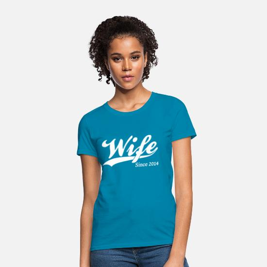 Anniversary T-Shirts - Wife Since 2014 - Women's T-Shirt turquoise