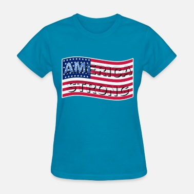 I Love Wave AMERICA STRONG WAVE I LT - Women's T-Shirt