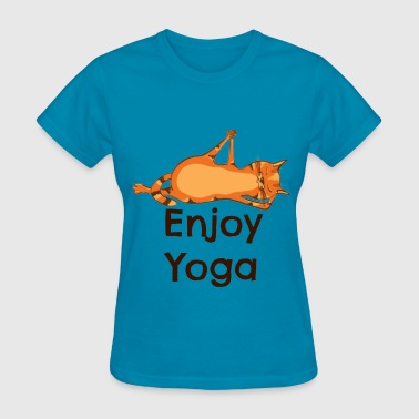Yoga Cat - Enjoy Yoga - Women's T-Shirt
