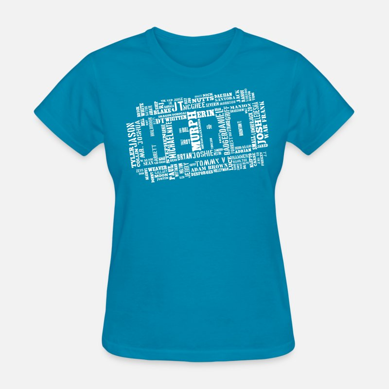 Crossfit T-Shirts - CrossFit Hero WOD White - Women's T-Shirt turquoise
