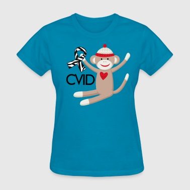 CVID Zebra Ribbon monkey - Women's T-Shirt