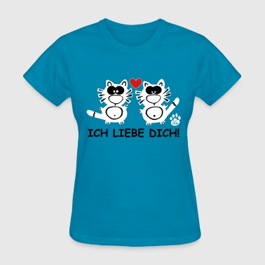 Catpaw Design Cat Cats Family Love Comic Germany - Women's T-Shirt