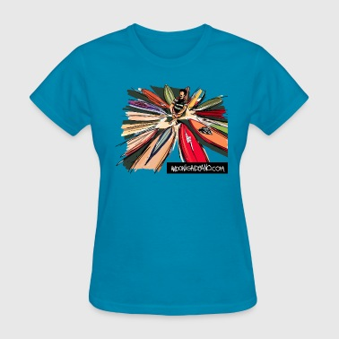 Surfboard Palette - Women's T-Shirt