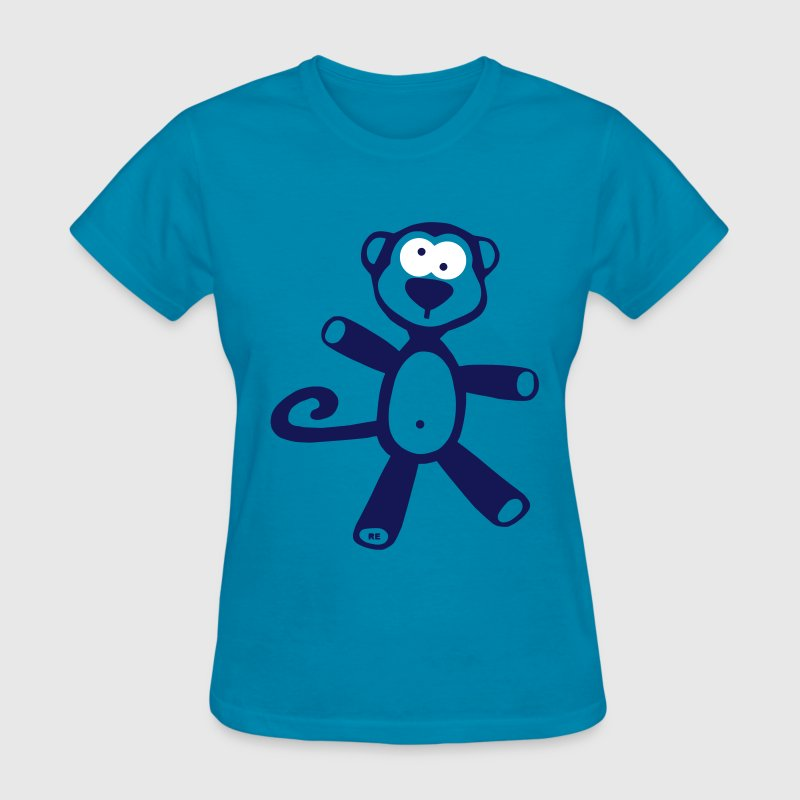 Monkey Chimp Ape Zoo Monkeys Comic Cute - Women's T-Shirt