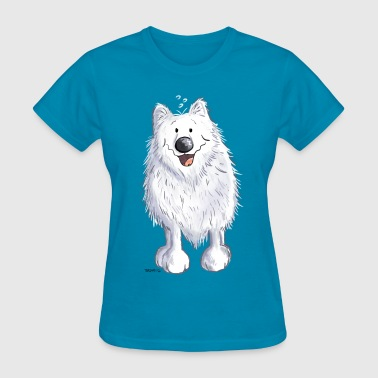 Happy Spitz - Dog - Dogs - Cartoon - Gift - Fun - Women's T-Shirt