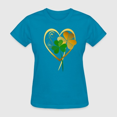 Shamrocks Of My Heart- - Women's T-Shirt