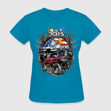 Mega Mud Trucks 2015 - Women's T-Shirt