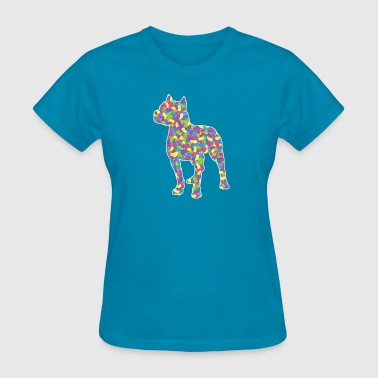 Easter Jellybean Pitbull Terrier - Women's T-Shirt