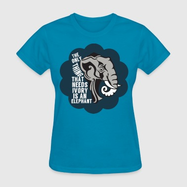 Anti-poaching Elephant Anti Poaching - Women's T-Shirt