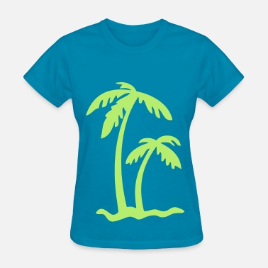 Island Palm Trees Palm Tree Island - Women's T-Shirt