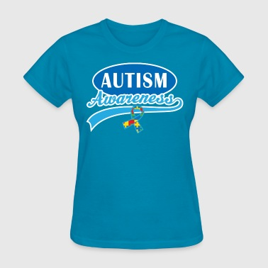 Autism Awareness Puzzle Ribbon - Women's T-Shirt