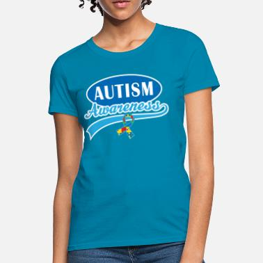 Asperger Syndrome Ribbon Autism Awareness Puzzle Ribbon - Women's T-Shirt
