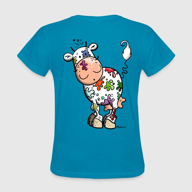 Colorful Cow - Women's T-Shirt