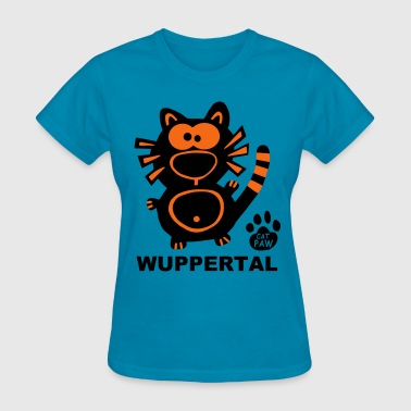 Cat Wuppertal City NRW US Germany Cats - Women's T-Shirt