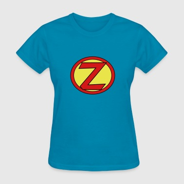 Super, Hero, Heroine, Initials, Super Z - Women's T-Shirt