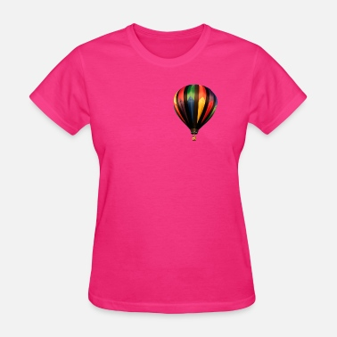 Above Lift Hot Air Balloon by Ricky R Uptergrove - Women's T-Shirt