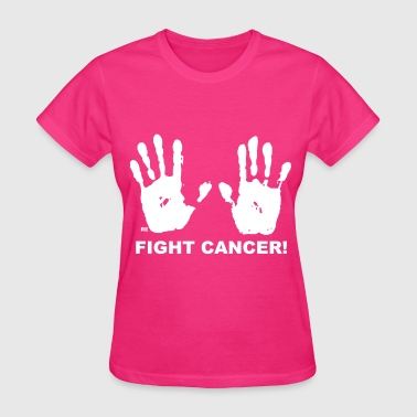 Fuck Fight Cancer Breast Awareness Statement Hands - Women's T-Shirt