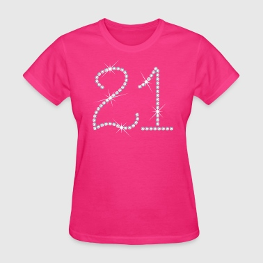 Faux Rhinestone 21st Birthday - Women's T-Shirt